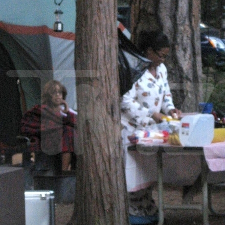 Oprah and Gayle Go Camping