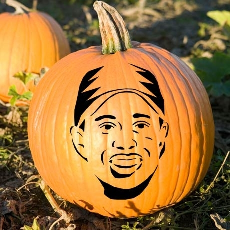 carving of Tiger Woods