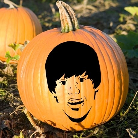 carving of Justin Bieber