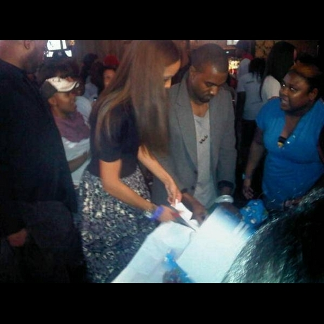 Kanye West at Charity Event