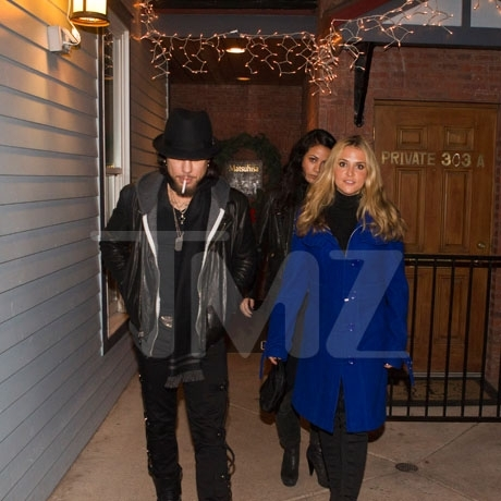 Dave Navarro and Brooke Mueller in Aspen