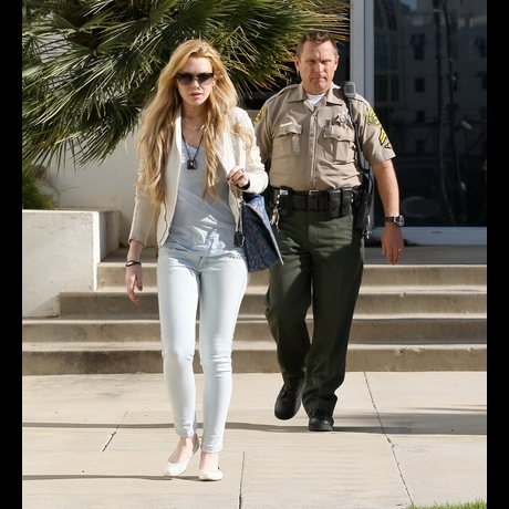 Lindsay Lohan -- Face-to-Face with Probation Officer