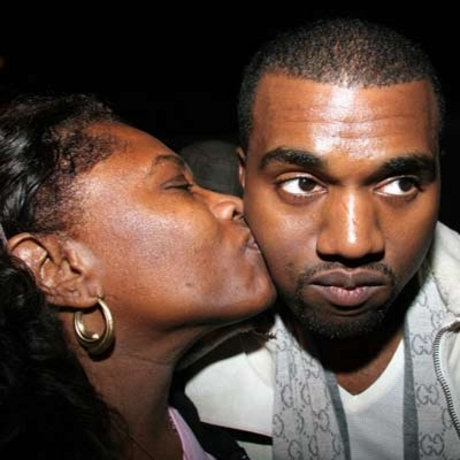 Kanye and his mother Donda West.