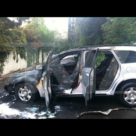 Tyler Perry Writer's Car -- The Aftermath