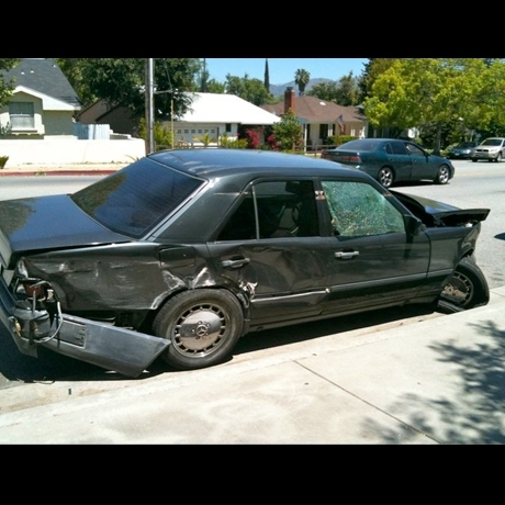 LA Ink&#039;s Ruthless Mercedes Car Crash Photo Gallery Pictures