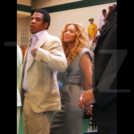 Jay-Z and Beyonce at College Graduation