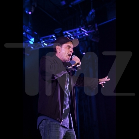 Charlie Sheen at the Gathering of the Juggalos