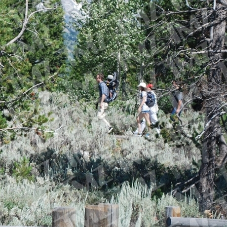 Sandra Ryan Reynolds and Baby Louis Hiking Wyoming Photo Gallery Pictures