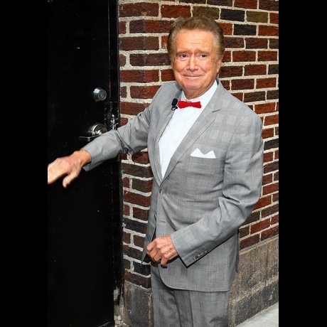 Regis Philbin  on the show Live With Regis and Kelly and Kathy through the years
