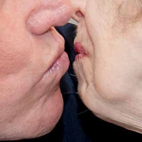 Celebrities kissing guess who valentine love lips pucker up