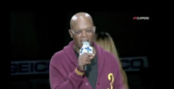 Samuel L. Jackson Gets Medieval at NBA Game -- Who Wants Some Pulp Fiction?
