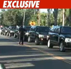 Motorcade Sponsored by Range Rover Rolls TMZcom