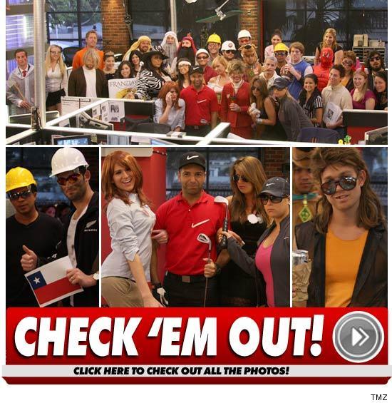 TMZ Halloween: Miners & Tiger & Bad Hair, Oh My!