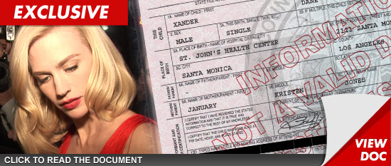 January Jones Birth Certificate -- I STILL Won't Name the ...