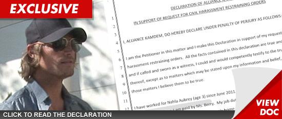 Gabriel Aubry restraining order documents