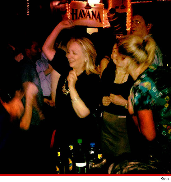 Hillary Clinton partying and dancing