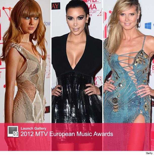 2012 MTV European Music Awards: Kim K., Taylor Swift