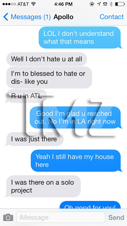 Kenya Moore And Apollo Text Messages Kenya Moore Rel...