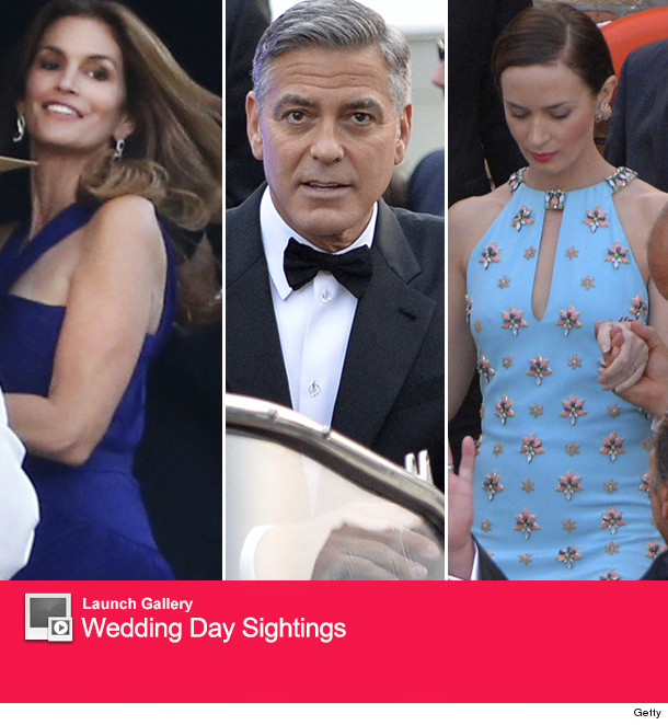 George And Amal Clooney Celebrate One-Year Wedding