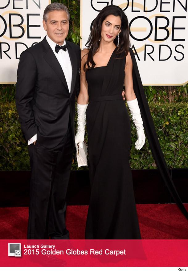 George Clooney & Amal Alamuddin Make Their Golden Globes ...