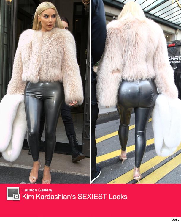 Kim Kardashian Slips Into The Tightest Pants Imaginable