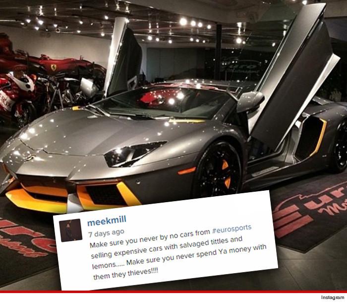 """Meek Mill Fires Back At Car Dealer On Instagram """"Selling"""