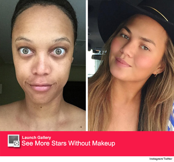 Tyra Banks Without Makeup: Tyra Banks & Chrissy Teigen Go Makeup-Free -- See Their