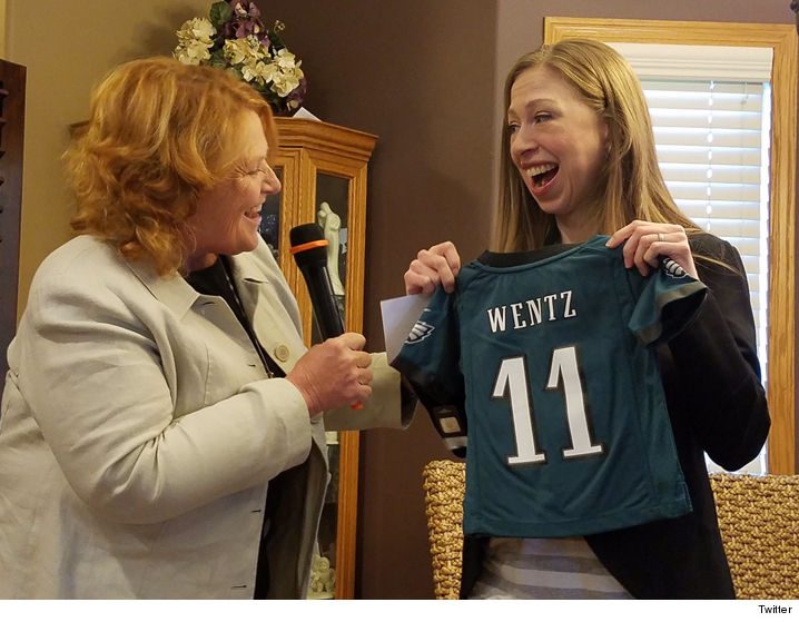 premium selection 72ea2 e1574 Chelsea Clinton - I'M ON THE WENTZ WAGON ... Go Eagles ...