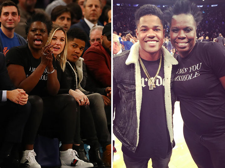 Leslie Jones Rocks A Hole Shirt To Knicks Game Tmz Com