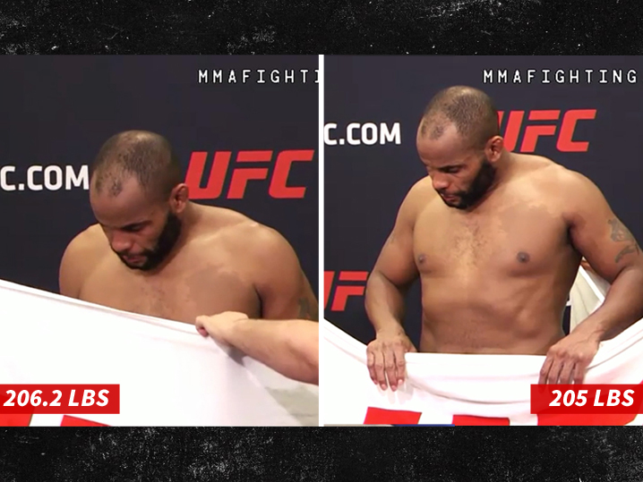 UFC's Daniel Cormier Makes Weight After Losing 1.2 Pounds in 2 Minutes!
