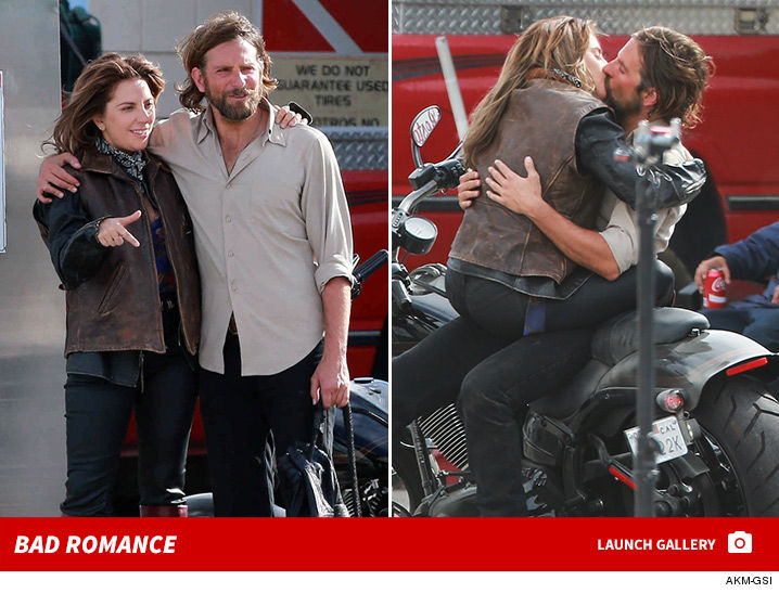 Lady Gaga and Bradley Cooper Make Out on Set of 'A Star is Born