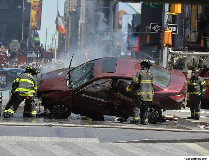 New York Car Into Crowd
