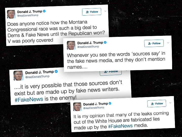 Donald Trump Rips 'Fake News Media on Twitter After First ...